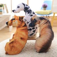 3D仿真狗狗可爱长条枕头搞怪抱枕靠垫办公室汽车沙发睡觉床头靠枕