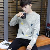 冬季毛衣男青少年韩版潮流圆领加厚针织衫高中初中学生打底毛线衣