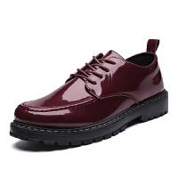 男士休闲鞋圆头大头皮鞋英伦韩版潮流时尚小男鞋马丁靴低帮鞋子男