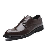 秋冬布洛克男鞋韩版英伦潮鞋休闲商务正装皮鞋男士尖头黑色婚礼鞋