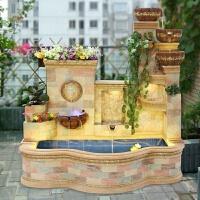 大型欧式家装饰工艺品养鱼池假山喷泉流水水景摆设风水轮落地摆件