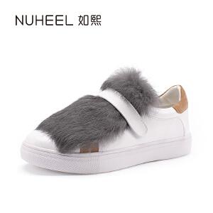 如熙2017秋冬新款休闲女鞋 橡胶大底时尚韩版女鞋