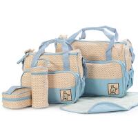 2018妈咪包五件套旅游大容量手提行李包斜挎婴儿出行包孕妇待产包