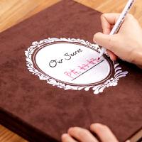 刺绣diy相册手工制作自粘贴式情侣本恋爱创意记录纪念册生日礼物