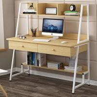 简易电脑桌台式书桌书架组合家用多功能写字桌创意写字台卧室桌子