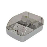 益而高808名片塑料分类收纳盒 名片盒 名片夹名片箱卡牌整理盒