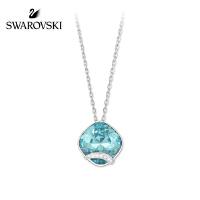 SWAROVSKI/施华洛世奇 经典简约迷人浅翠蓝色方形项链 5012007