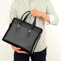 男士手提包真皮大容量公文包手拿单肩包男大号电脑包