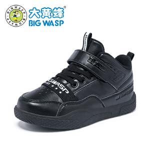 大黄蜂童鞋 儿童冬季棉鞋2018新款男童加绒运动鞋子男孩休闲平底