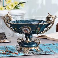 欧式宫廷客厅茶几水果盘零食干果收纳盘桌面摆件高档样板房装饰品