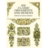 800 Classic Ornaments and Designs (【按需印刷】)