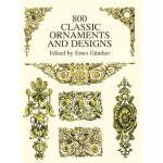 800 Classic Ornaments and Designs (【按需印刷】)