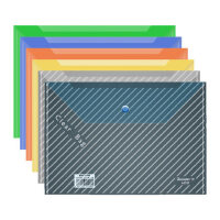 广博透明按扣文件袋文件夹a4塑料资料袋办公用品档案袋20个装批发