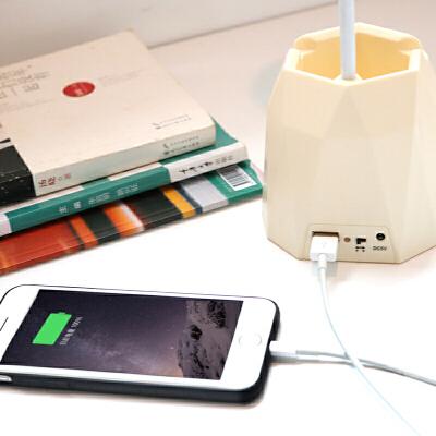 LED台灯护眼学习儿童卧室书桌笔筒阅读灯保视力学生宿舍USB可充电