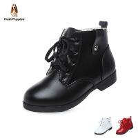 暇步士Hush Puppies童鞋女童靴子2017冬季新款中童靴子休闲时装靴学生靴雪地靴 (3-10岁) DP9179