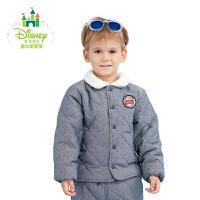 迪士尼Disney前开扣外套经典仿牛仔夹棉外套174S945