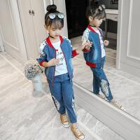 女童秋装6儿童牛仔套装7大童装春秋时髦洋气韩版潮衣8岁9
