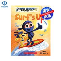 英文原版 Surf's Up 学乐大树姐妹篇橡树系列 An Acorn 儿童冒险桥梁章节书 中小学生英语学习课外读物
