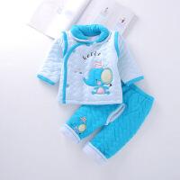 新生儿童套装婴儿加厚衣服男女宝宝秋冬装开档棉袄0-1岁 73cm(0-6个月具体看尺寸