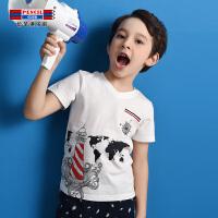 【3折价:24】铅笔俱乐部童装2020夏季男童短袖T恤儿童上衣中大童圆领T恤休闲T