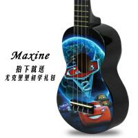 ukulele尤克里里21寸儿童初学者卡通小吉他夏威夷乌克丽丽四弦琴a298 汽车总动员 套装