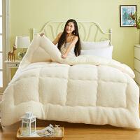 冬季被子宿舍保暖羊羔绒冬被 柔羊毛被子羊绒被 毛绒加厚棉被芯 200x230cm 厚8斤