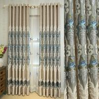 欧式窗帘定做订做避光卧室温馨浪漫房间主卧双层遮光平面窗落地窗 3.5*2.7m两片布帘 (宽度*高度)