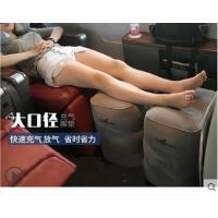 便携足踏户外充气飞机脚垫脚踏出国旅行神器垫腿火车睡觉汽车足踏