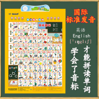 智力英语音标有声挂图48个国际音标字母发音口型表小学生初中生