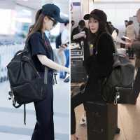 2020新款杨幂明星同款双肩包女韩版百搭时尚书包大容量旅行背包