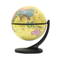 11cm中英文政区地球仪 博目仿古地球仪小号摆件单支点 万向旋转 礼品 装饰 Wander Globe 谷歌地球仪