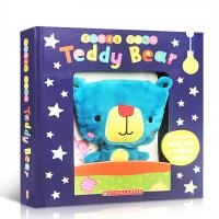 【全店300减100】泰迪熊纸板书附毛绒玩具 英文原版绘本 Teddy Bear (with Plush)Board b