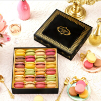 玛呖德正宗法式手工马卡龙甜点西式糕点休闲点心零食品24枚礼盒装