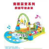 多功能婴幼儿脚踏钢琴音乐健身架游戏垫0-1岁玩具抖音 婴儿脚踏钢琴架