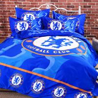 巴萨足球队球迷床单人床上用品巴塞罗纳四件套学生宿舍被套三件套