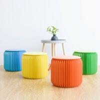 创意家具矮凳折叠圆凳小户型凳子客厅家具时尚彩色凳