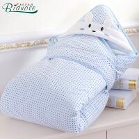 纯棉婴儿抱被春夏秋冬四季可用 可脱胆冬款加大加厚宝宝包被睡袋两用