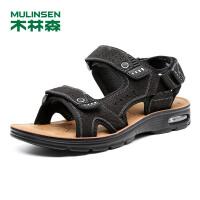 木林森男鞋 2018夏季新款头层牛皮户外防滑户外沙滩鞋 05287726