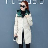 棉袄女中长款冬季新款韩版羽绒小个子棉衣加厚外套