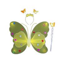 双层蝴蝶翅膀 发光儿童演出服装表演道具 天使翅膀 儿童玩具批发