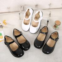 女童皮鞋黑白色儿童表演出鞋春秋新款中大童公主礼服鞋小学生单鞋