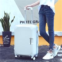 拉杆箱万向轮旅行箱20寸行李箱子母箱22寸24寸26寸男女时尚拖箱包 白色 KM