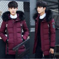冬季羽绒服男中长款加厚韩版修身潮流帅气青少年高中学生男士