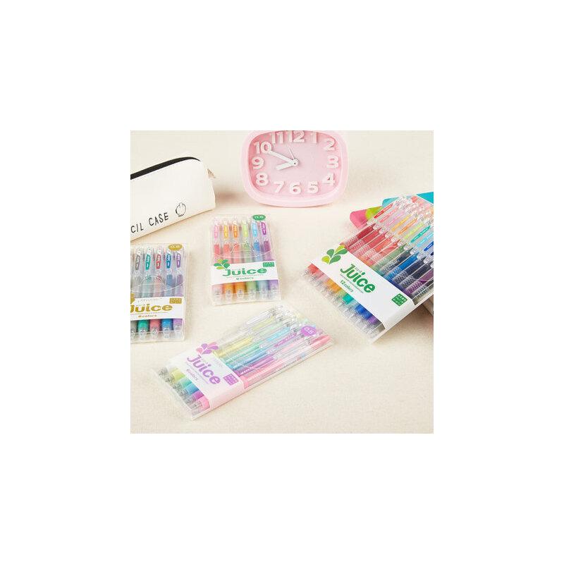 【整套包邮】百乐 百果乐Juice水笔按动式彩色中性果汁笔0.5mm套装
