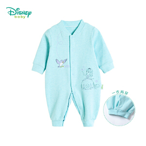 【卷后139元3件】迪士尼Disney 春秋新款新生儿长袖连体衣女宝宝前开扣哈衣外出爬服183L760