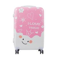 卡通拉杆箱可爱小清新涂鸦万向轮20登机箱女24旅行箱密码行李箱潮