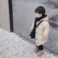 №【2019新款】冬天穿的男女宝宝冬装羽绒棉衣中长款外套儿童装男童小童韩版
