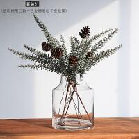 INS风极简玻璃花瓶家居北欧玫瑰插花透明鲜花水培客厅装饰品摆件
