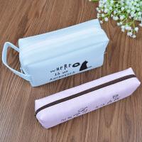学霸笔袋大容量男女通用 小学生超大便宜简约创意拉链可爱文具盒
