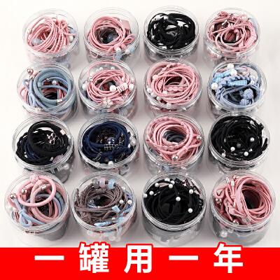 糖果公主8-25件套韩国头绳女成人简约扎发圈发绳头饰头套韩版可爱扎头发橡皮筋发饰